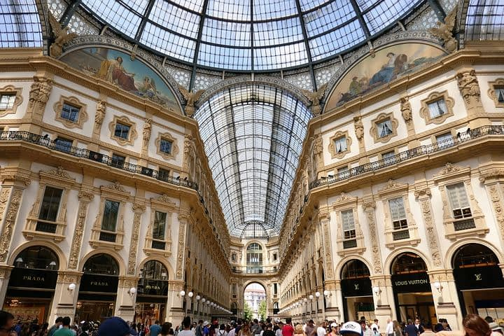 Milan - Galleria Vittorio Emanuele, named after the King of Italy after unification of the country